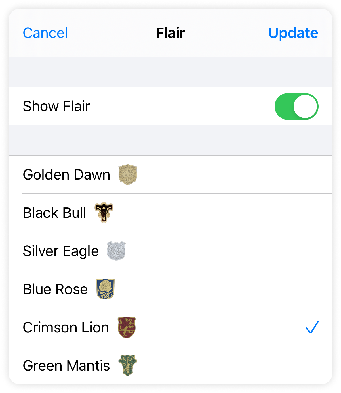 Setting your flair in Apollo